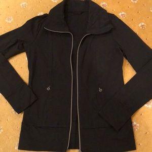 Lululemon black zip up workout jacket